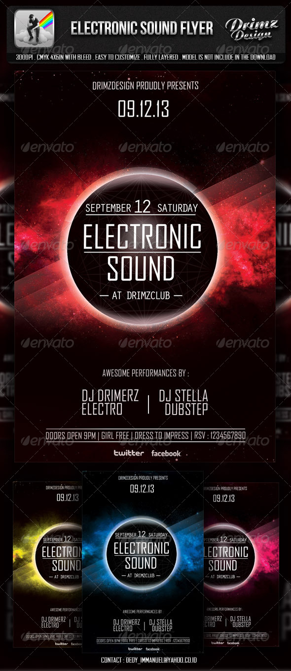 GraphicRiver Electronic Sound Flyer 5817132