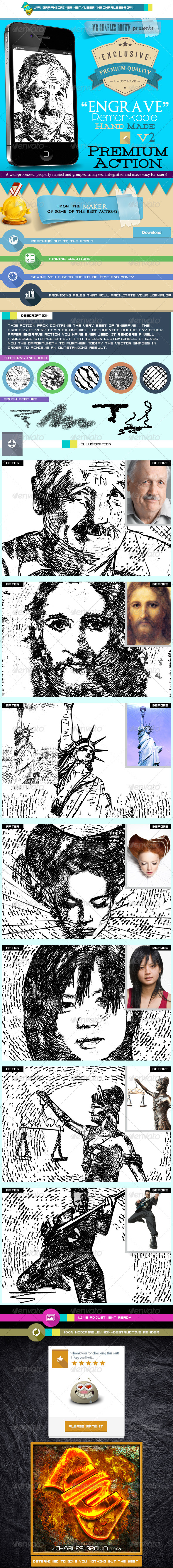 GraphicRiver Remarkable Hand Made Engrave 2 Rough Stipple 5801149