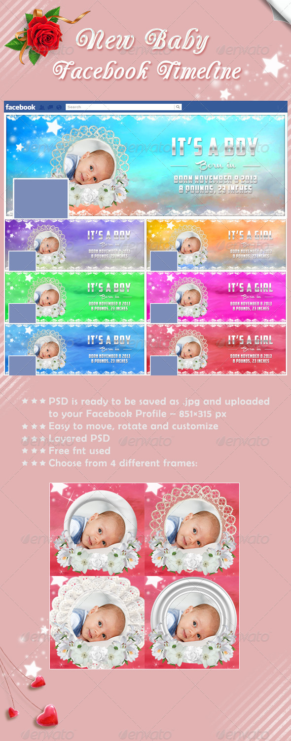 GraphicRiver New Baby Timeline Cover 5817180