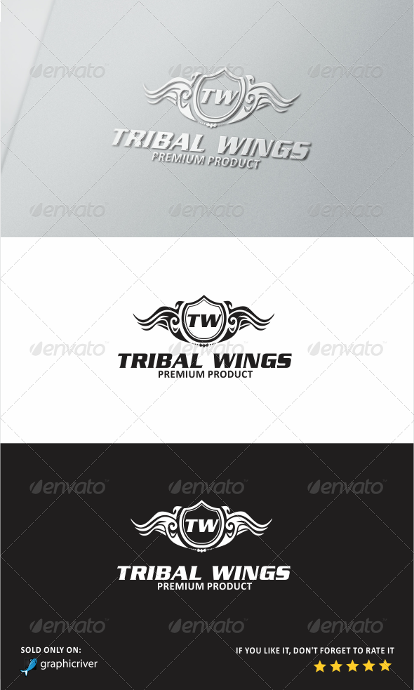 GraphicRiver Tribal Wings Logo 5817222