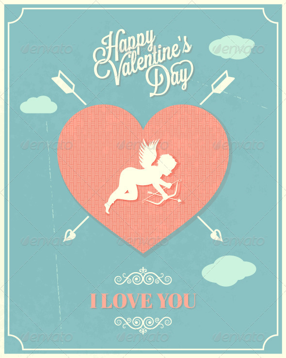 GraphicRiver Holiday Frame Happy Valentines Day 5808456