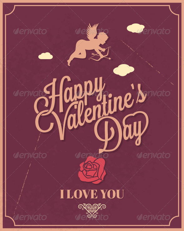 GraphicRiver Holiday Frame Happy Valentines Day 5808392
