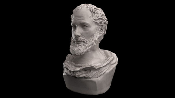 Aristotel Bust Statue - 3DOcean Item for Sale