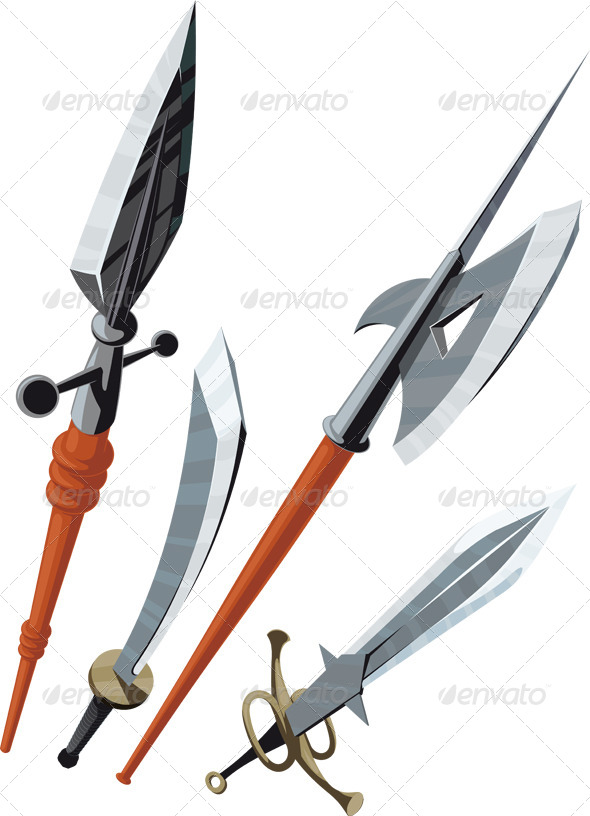 GraphicRiver Set of Weapons 5817766