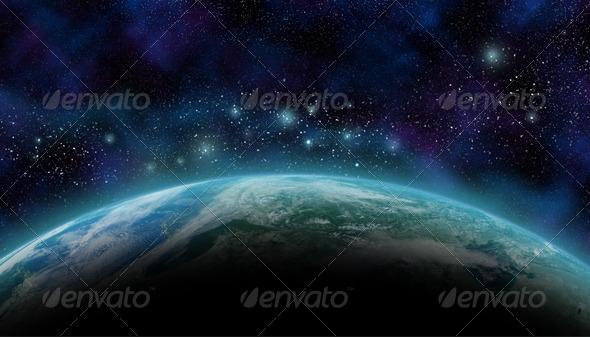 GraphicRiver Tera in Space Wallpaper 5767579