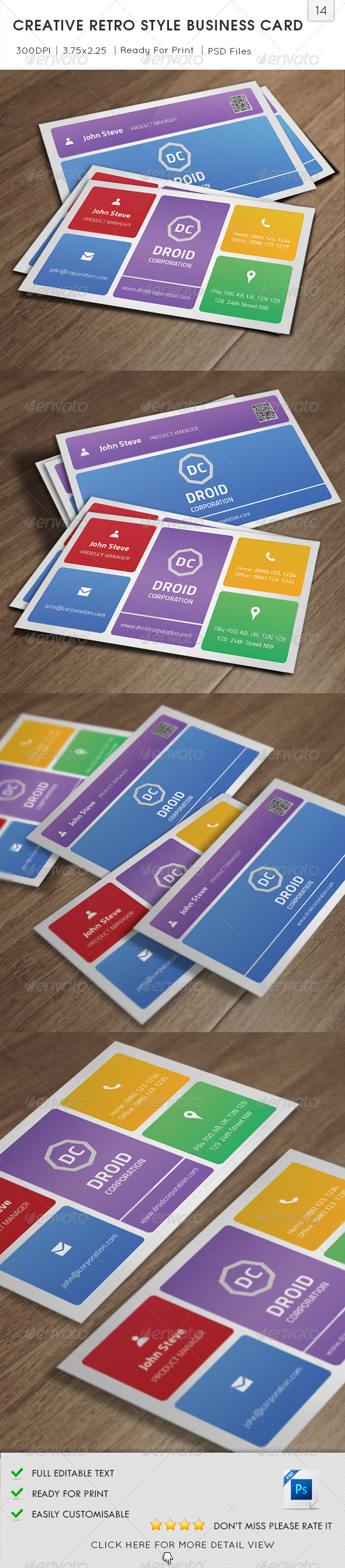 GraphicRiver Creative Retro Style Business Card v14 5818744