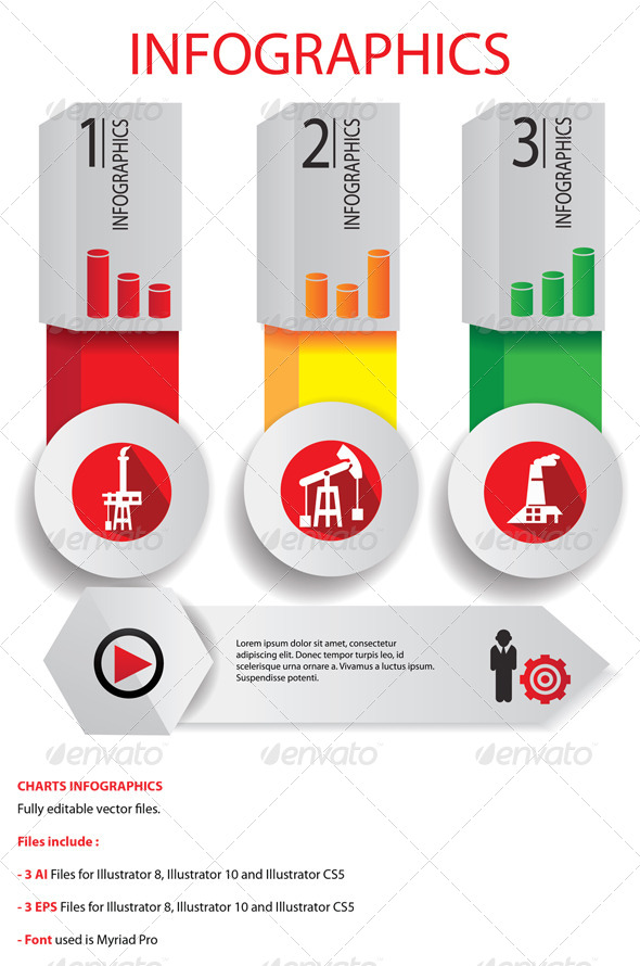 GraphicRiver 3 Chart Infographics 5818780