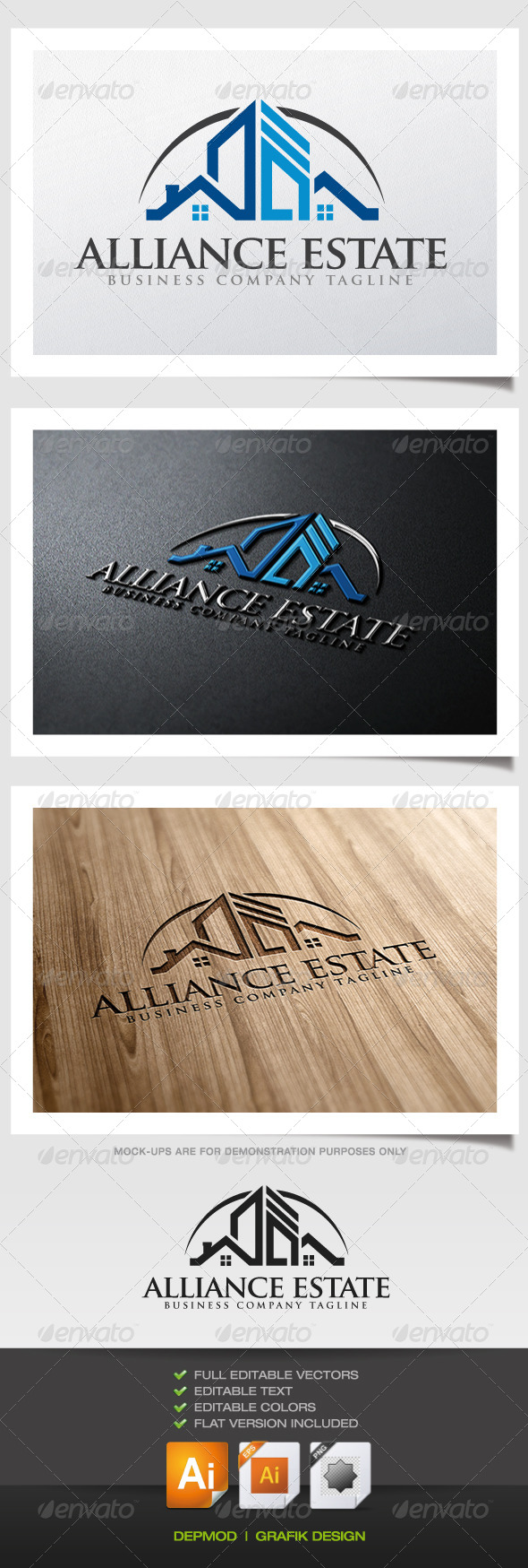 GraphicRiver Alliance Estate Logo 5818786