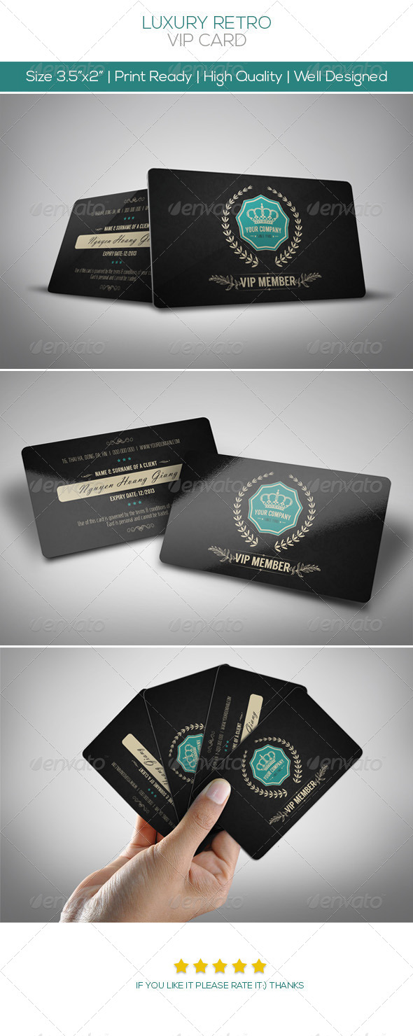 Luxury Retro Vip Card - Loyalty Cards Cards & Invites