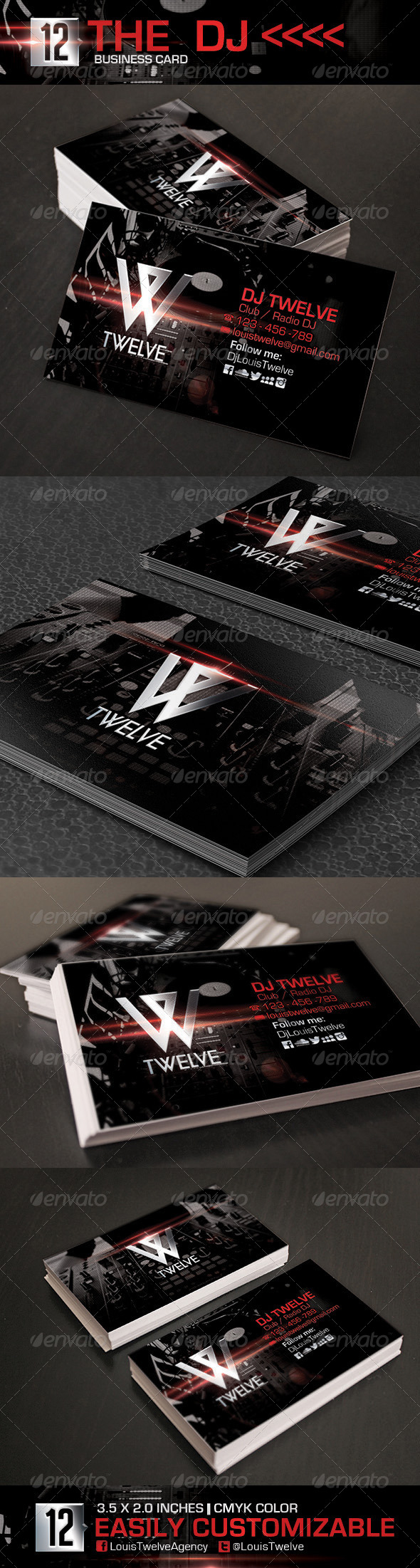 GraphicRiver The Dj Business Card 5751415