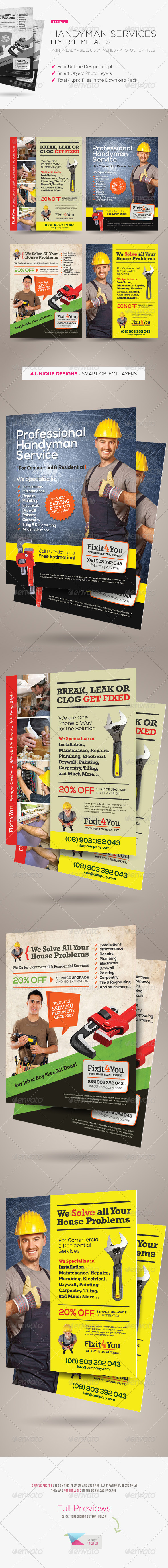 GraphicRiver Handyman Services Flyers 5819527