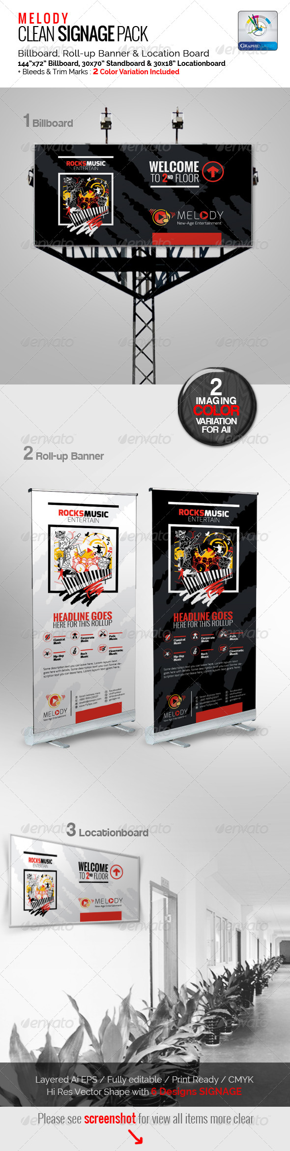 GraphicRiver Melody Clean Signage Pack 5819552
