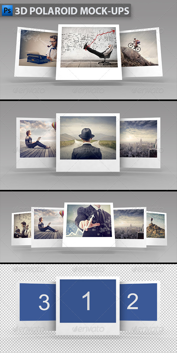 GraphicRiver 3D Polaroid Mock-ups 5819574