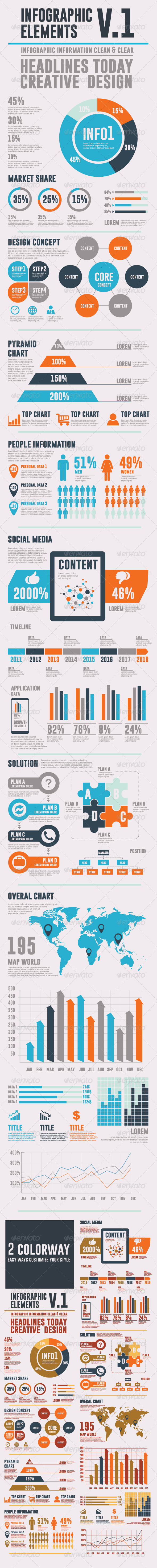 GraphicRiver Infographic Elements V.1 5779344