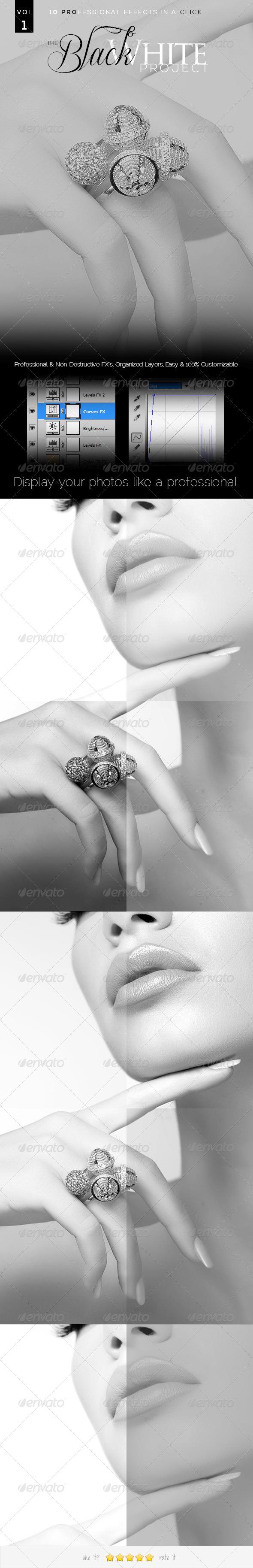 GraphicRiver 10PROFX The Black & White Project VOL 1 5819877