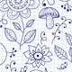 Vector Seamless Floral Summer Doodle Pattern - GraphicRiver Item for Sale