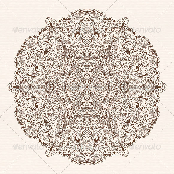 Vector Abstract Floral Design Element