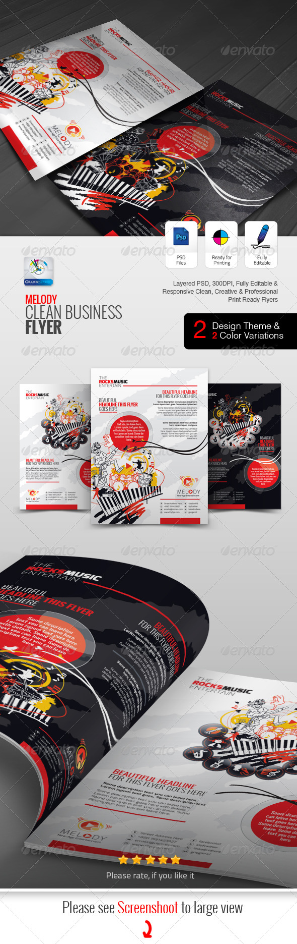 GraphicRiver Melody Business Flyer Ad 5820145