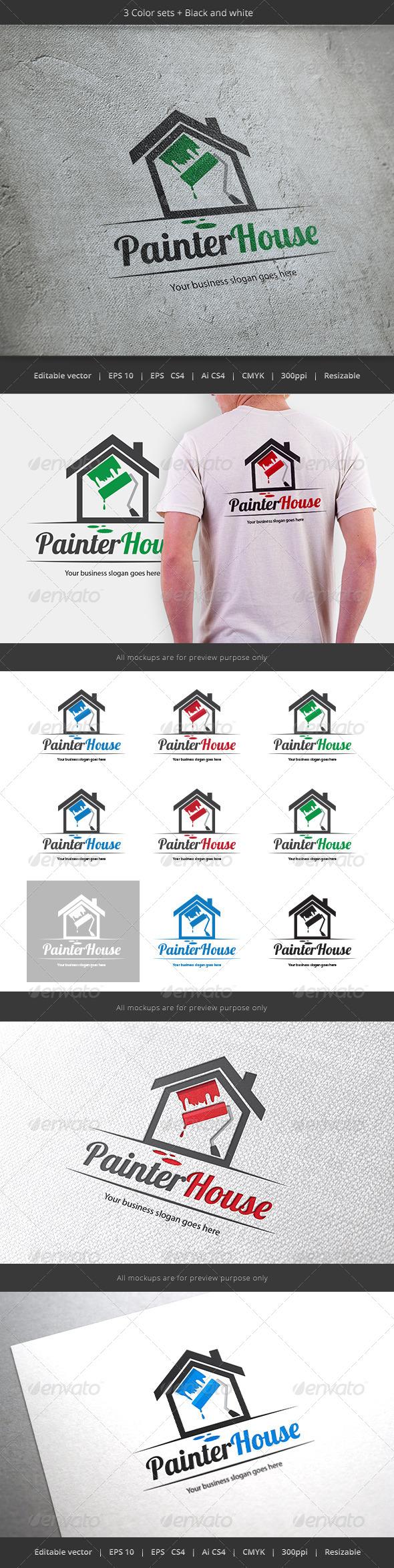 GraphicRiver Painter House Logo 5820151