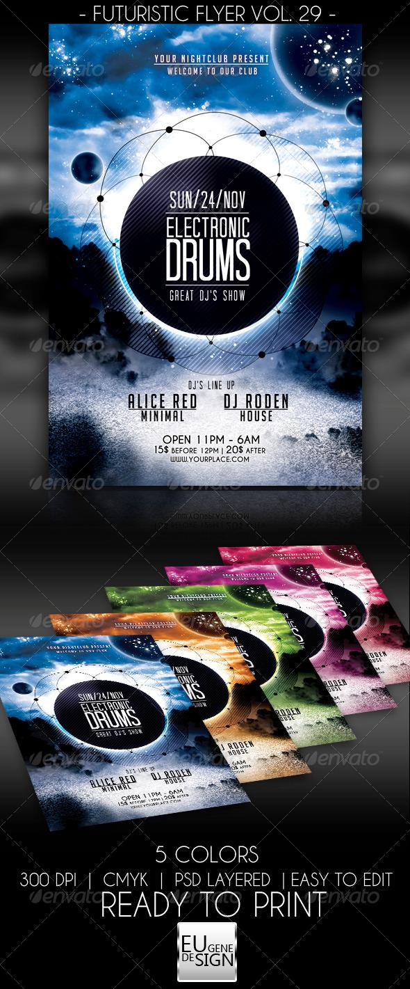 Futuristic Flyer Vol. 29 - Clubs & Parties Events