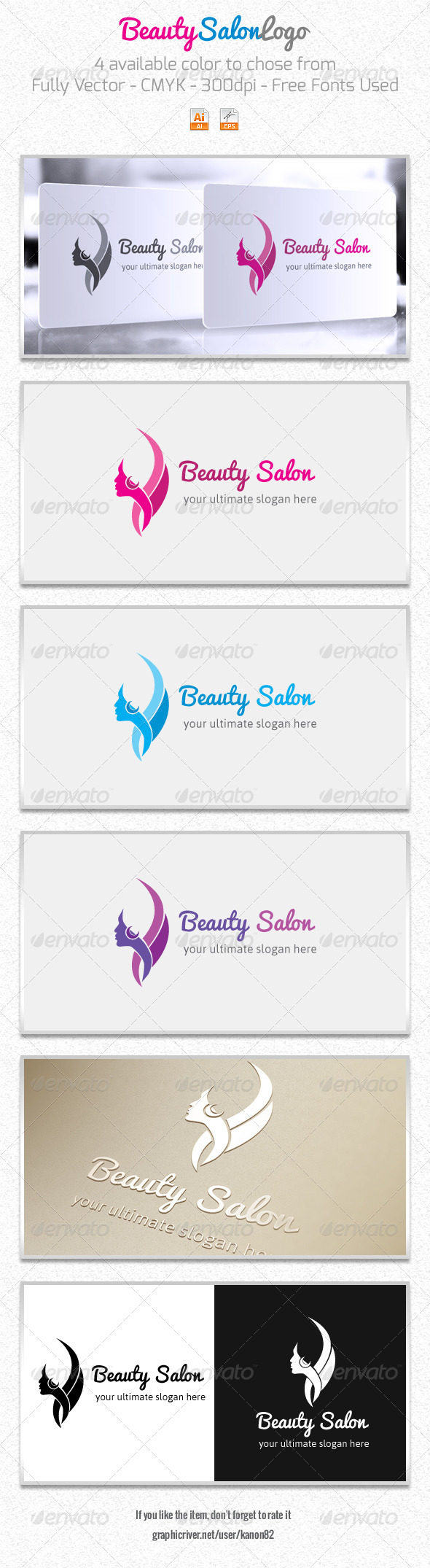 GraphicRiver Beauty Salon Logo 5820156