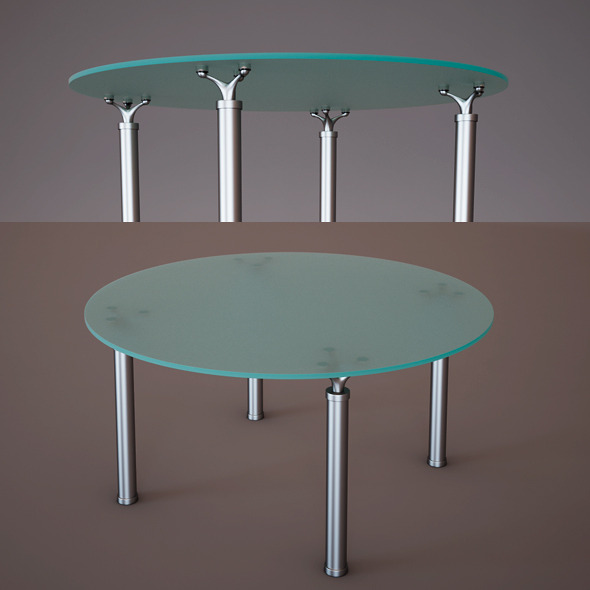 3DOcean Glass Table 5820482