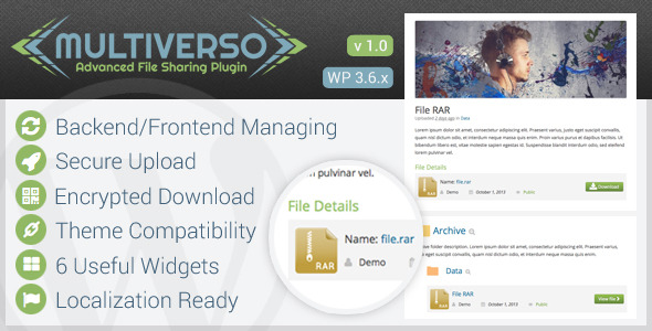 CodeCanyon Multiverso Advanced File Sharing Plugin 5756019