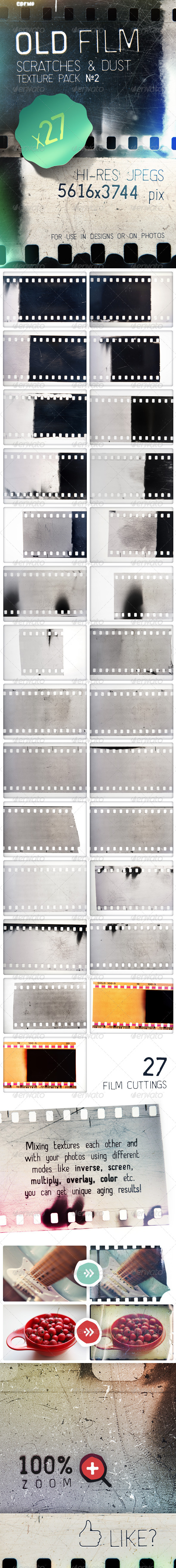 Old Film Cuttings - Scratches & Dust Textures Vol2 - Miscellaneous Textures