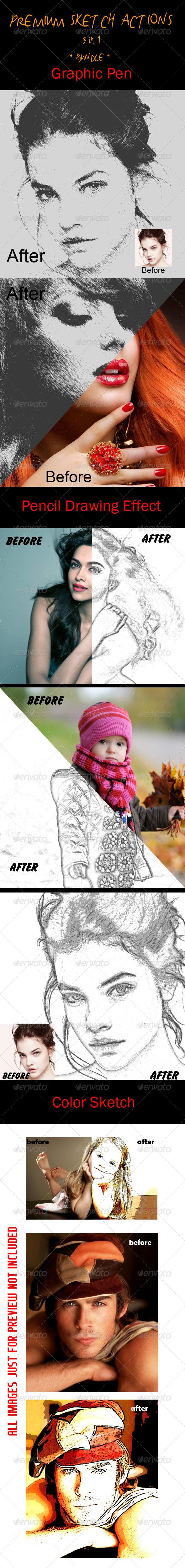 GraphicRiver Premium Sketch Actions 5820577