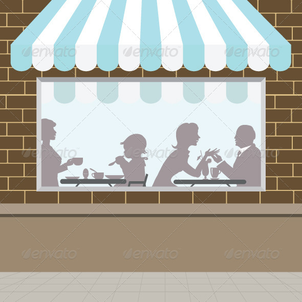 GraphicRiver Front of Coffee Shop 5820616