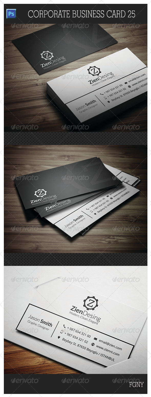 GraphicRiver Corporate Business Card 25 5821140
