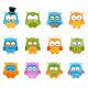 Retro Owl Set - GraphicRiver Item for Sale