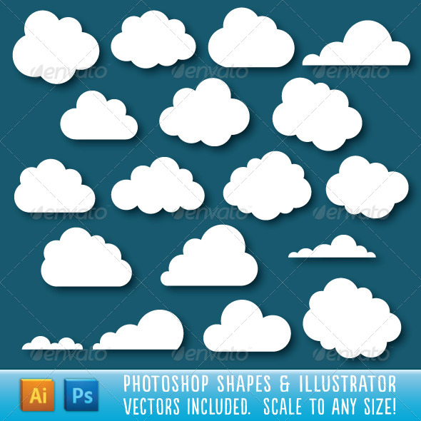 GraphicRiver Cloud Shapes 5821372