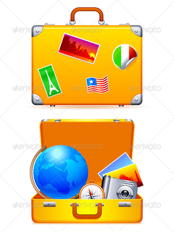 GraphicRiver Travel Suitcase 5821458