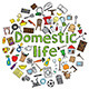 Domestic Life Illustration - GraphicRiver Item for Sale