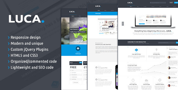 LUCA – Responsive HTML5 Template (Creative) images