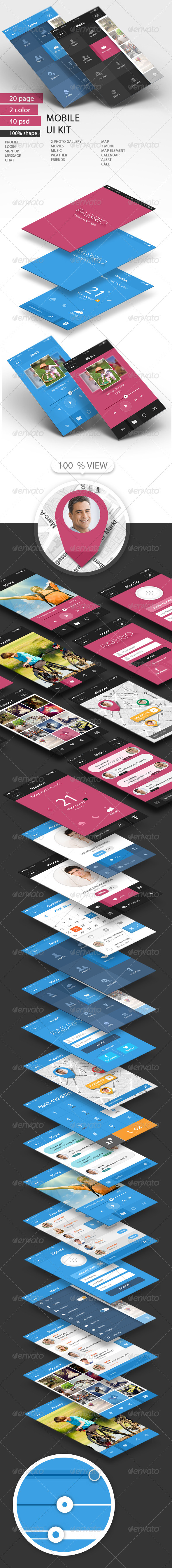 GraphicRiver UI KIT Mobile Theme 5822180