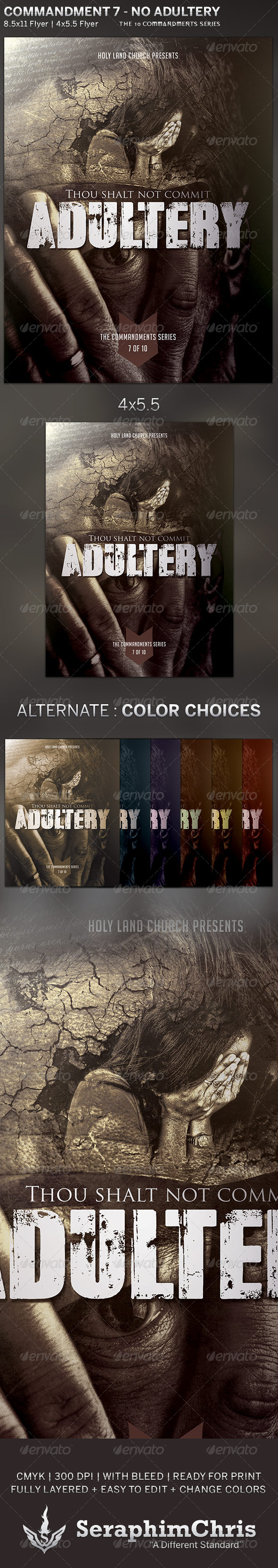 GraphicRiver Adultery Church Flyer Template 5822197