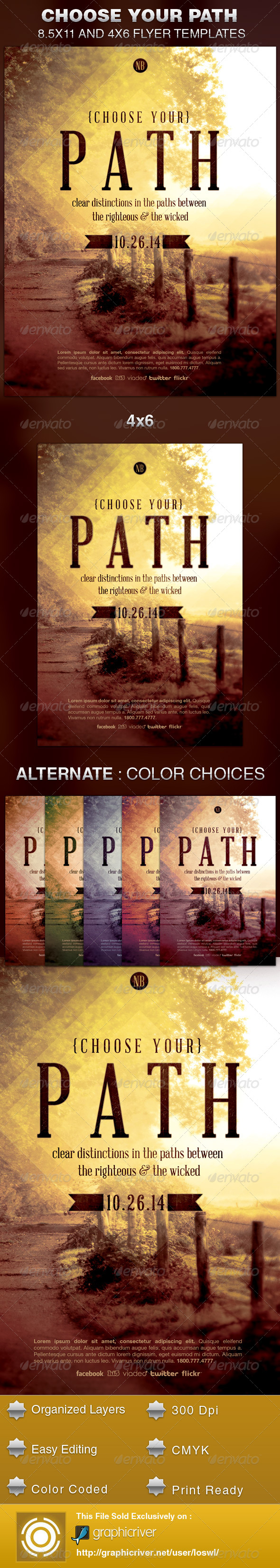 GraphicRiver Choose your Path Church Flyer Template 5822303