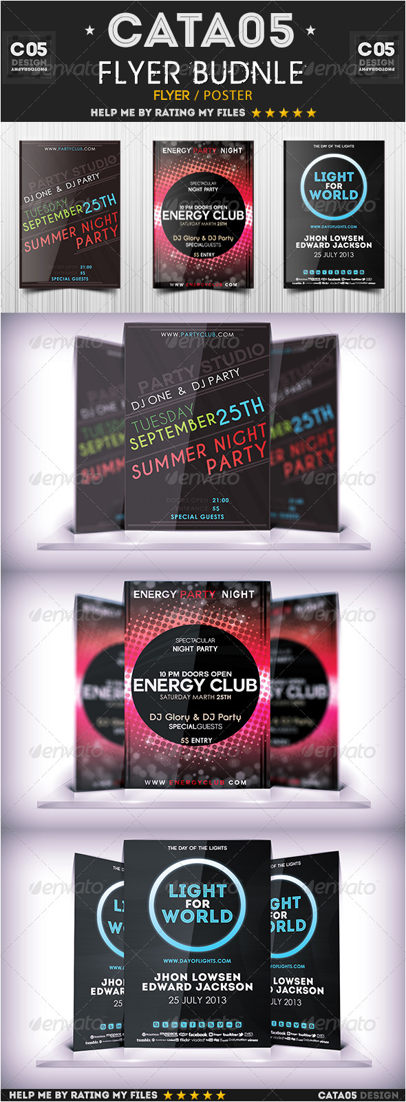 Flyer Bundle Pack 1 - Flyers Print Templates