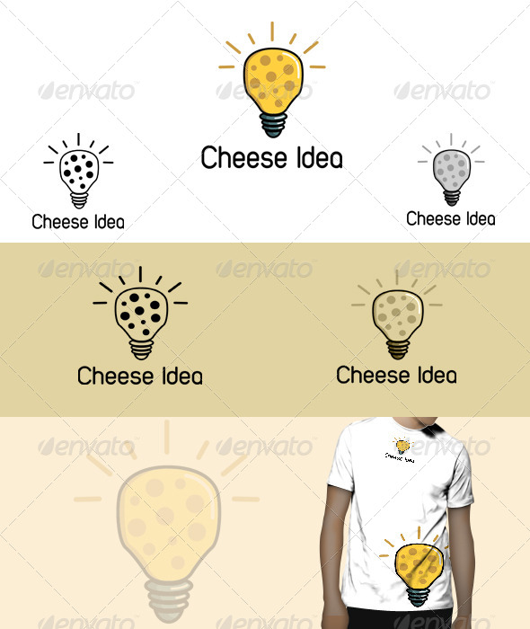 GraphicRiver Cheese Idea Logo 5823063