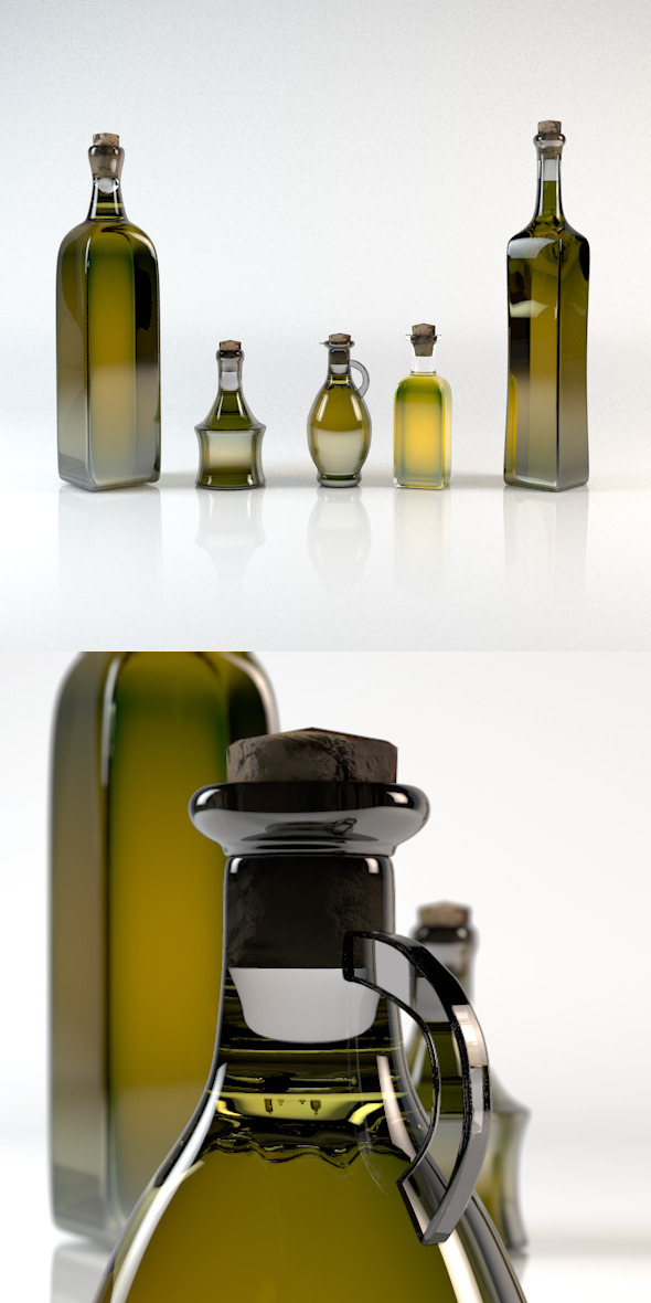 3DOcean Olive Oil Bottle Pack 5in1 5823159