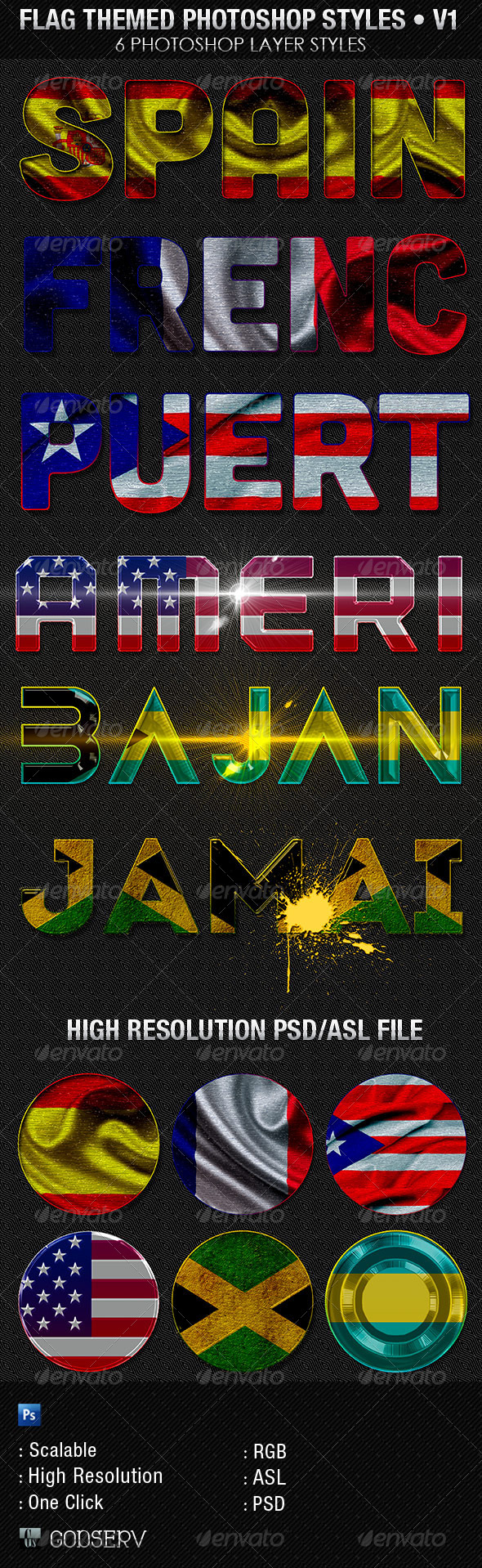 GraphicRiver Flag Themed Photoshop Text Layer Styles V1 5823450