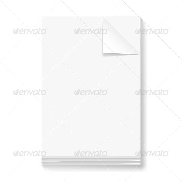 GraphicRiver Stack of Blank Papers 5823826