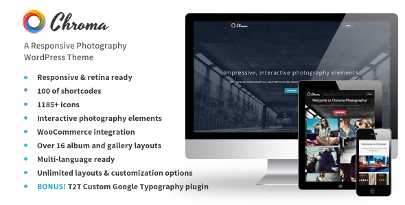 Chroma - A Responsive Photography Theme