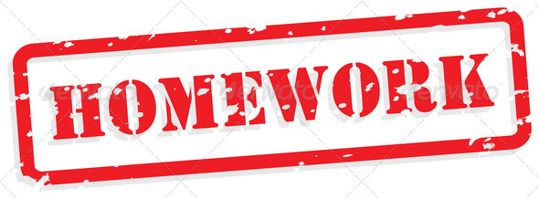 Homework Rubber Stamp Vector - Stock Photo - Images