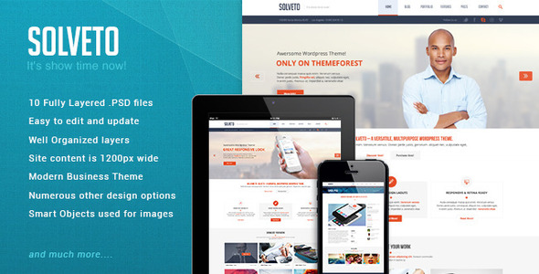 ThemeForest Solveto Psd template 5751457