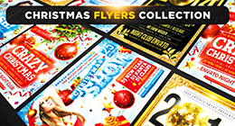 Christmas & New Year Holidays Flyers Collection