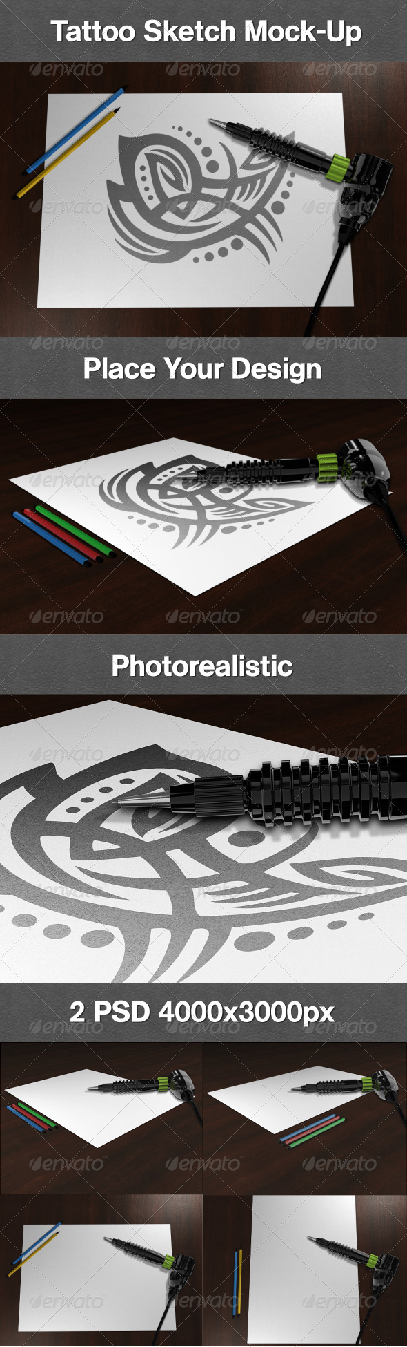 GraphicRiver Tattoo Sketch Mock-Up 5826175