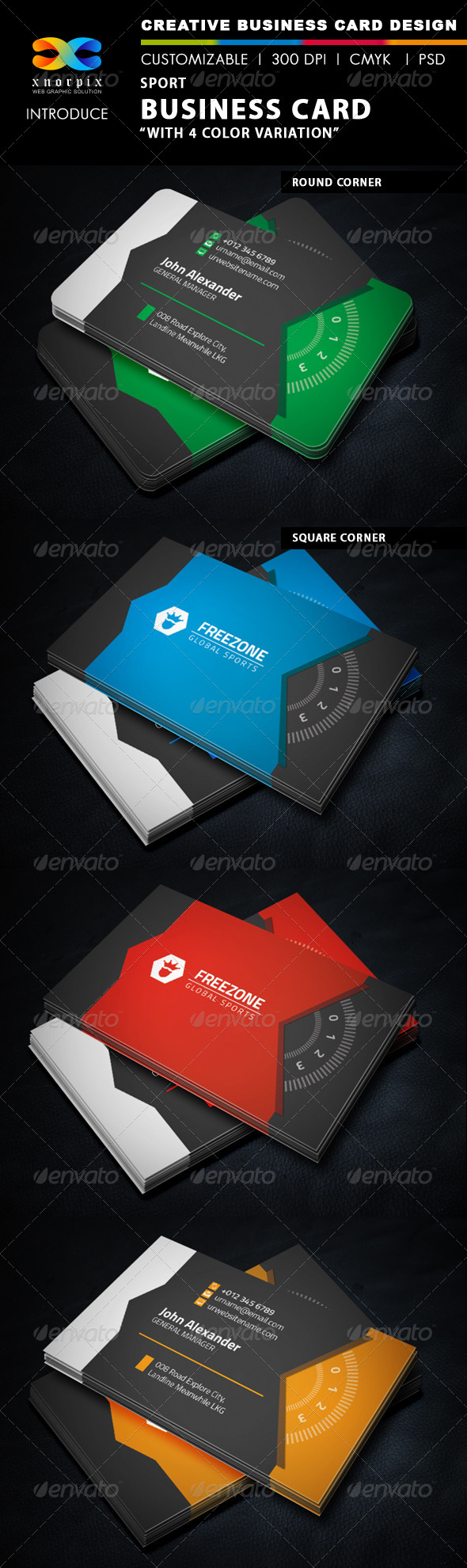 GraphicRiver Sport Business Card 5826291